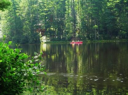 Canoeing on Whisper Lake